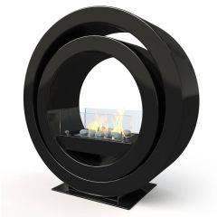Globus Black  Bio Ethanol Fireplace - Imaginfires