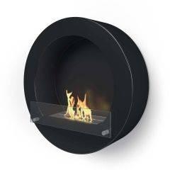Henley Black Bio Ethanol Fireplace - Imaginfires
