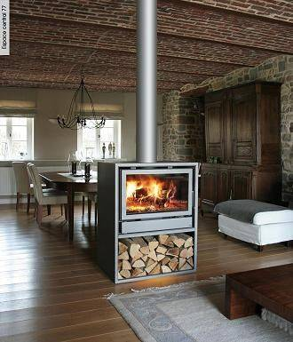 20 ideas to decorate around a wood burning stove. Black Bedroom Furniture Sets. Home Design Ideas
